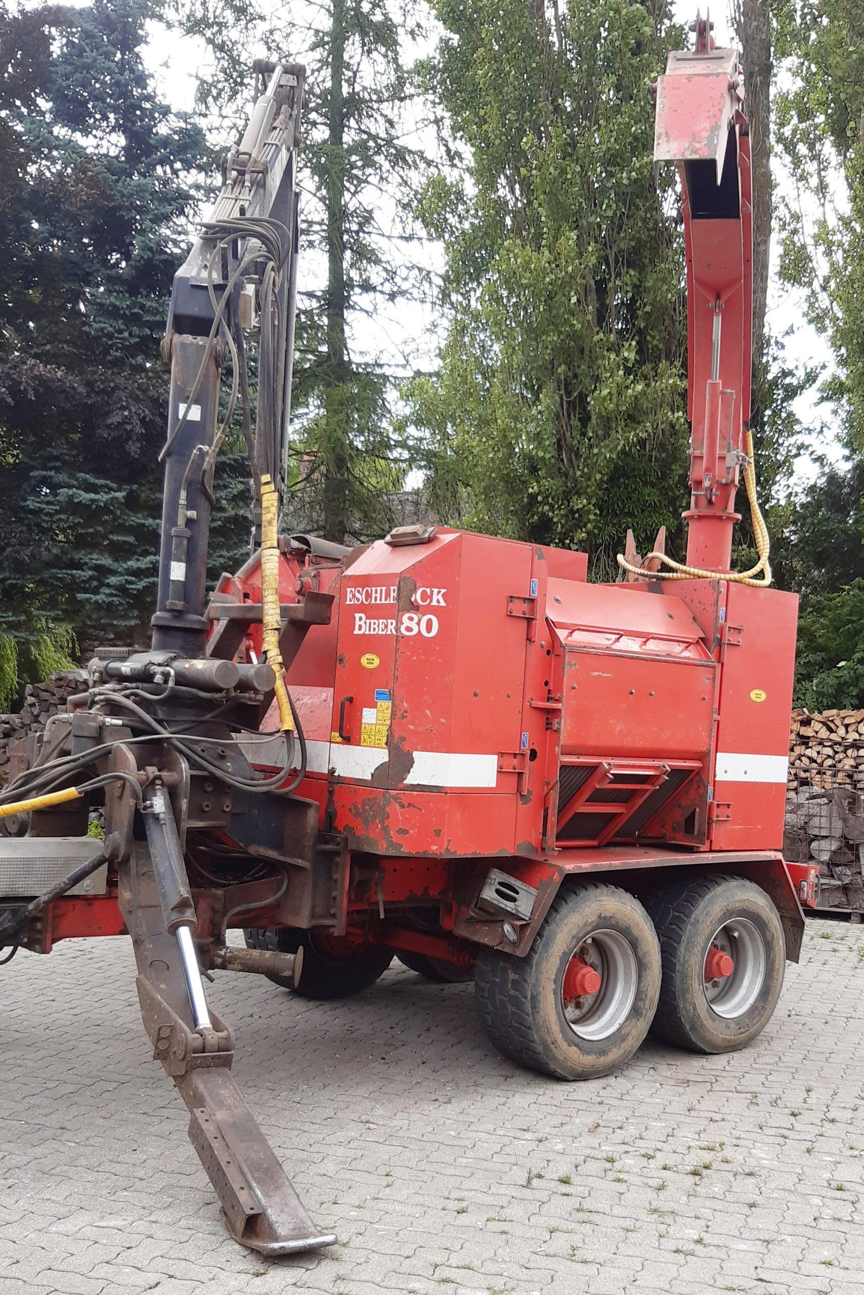 Biber 80 ZK with crane and splitter